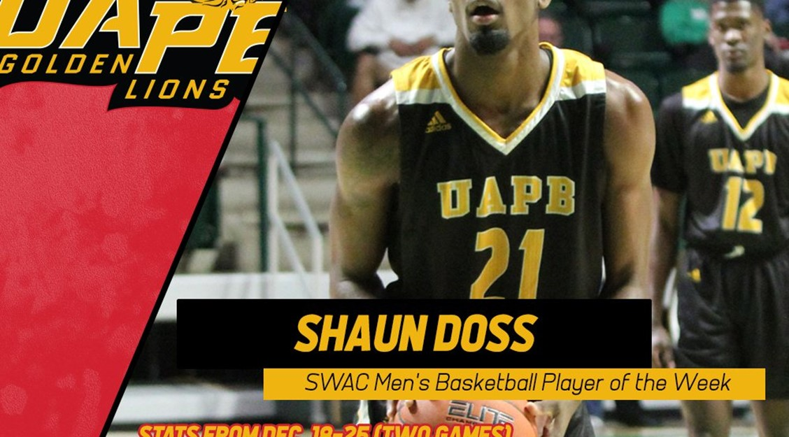 Shaun Doss  Named SWAC Player of the Week